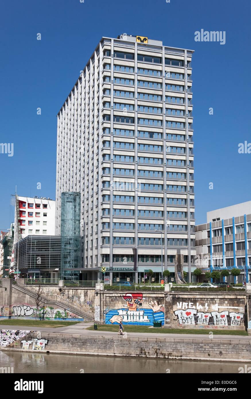Raiffeisen Gebäude, Wien, Österreich - Raiffeisen Building, Vienna, Austria - Stock Image