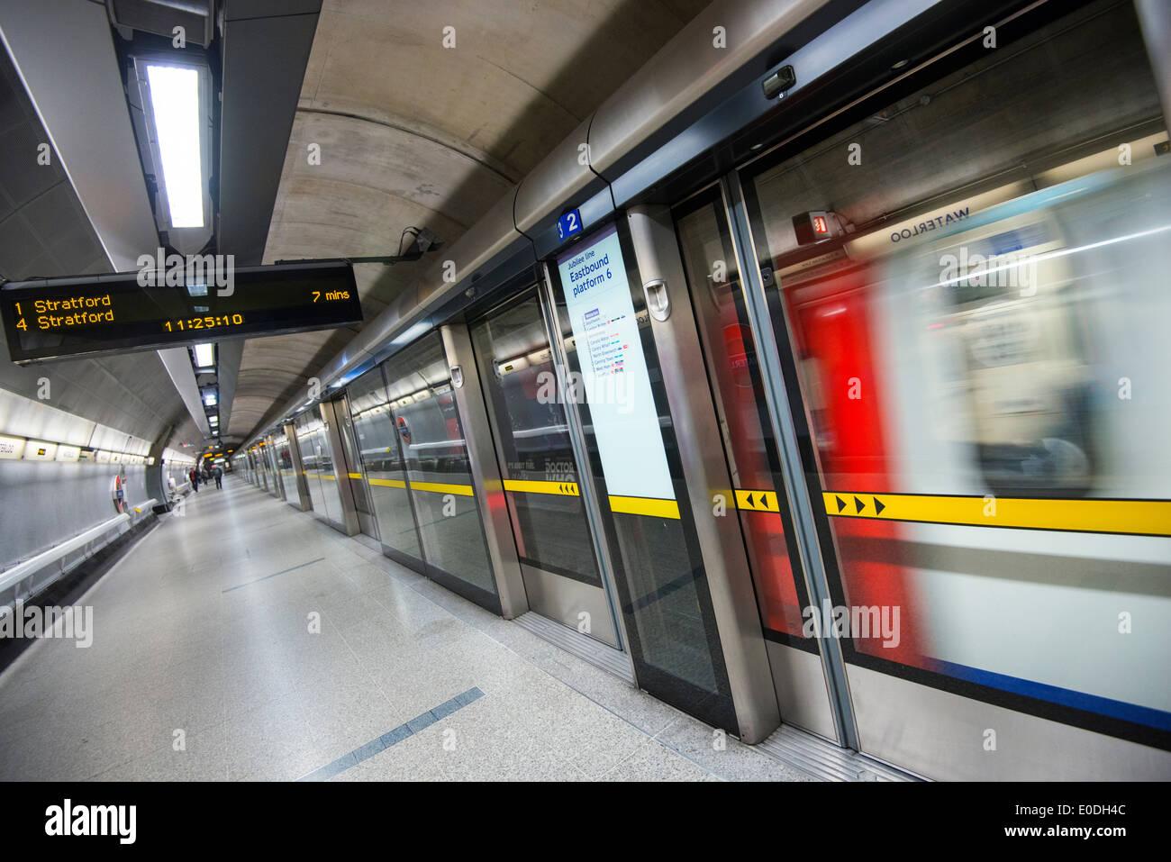 Waterloo Station on the London Underground, England UK - Stock Image