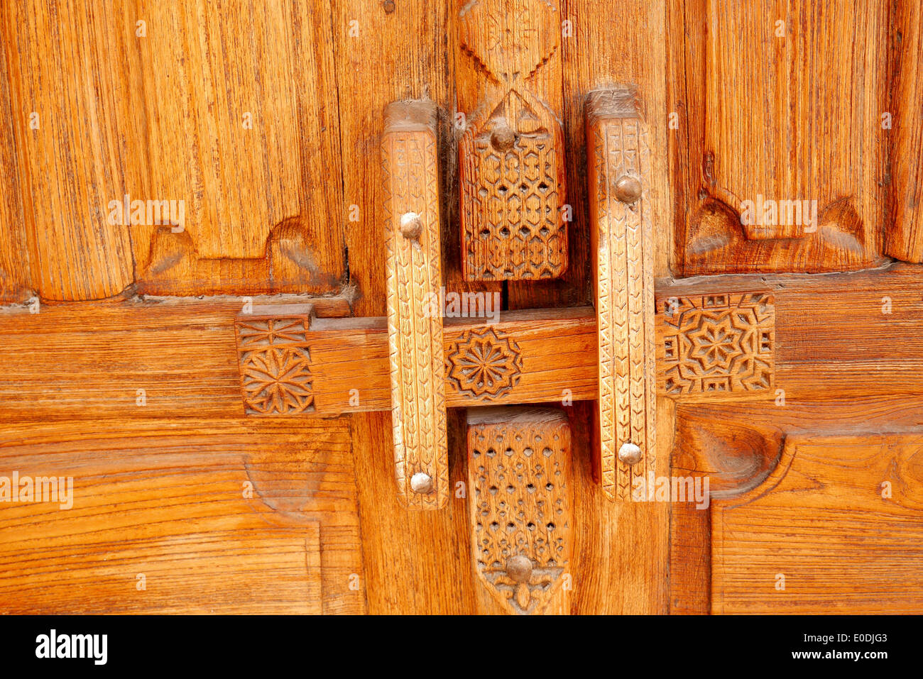 Wooden lock on an old door in the Beit Sheikh Isa bin Ali house in ...