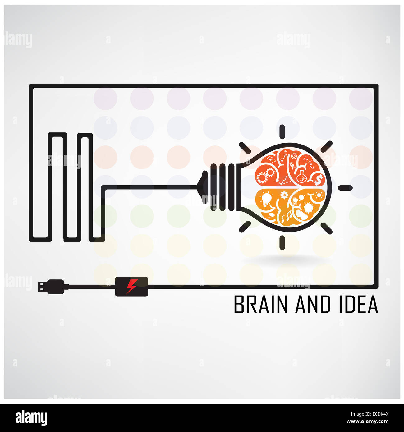 creative brain idea concept background design for poster flyer cover