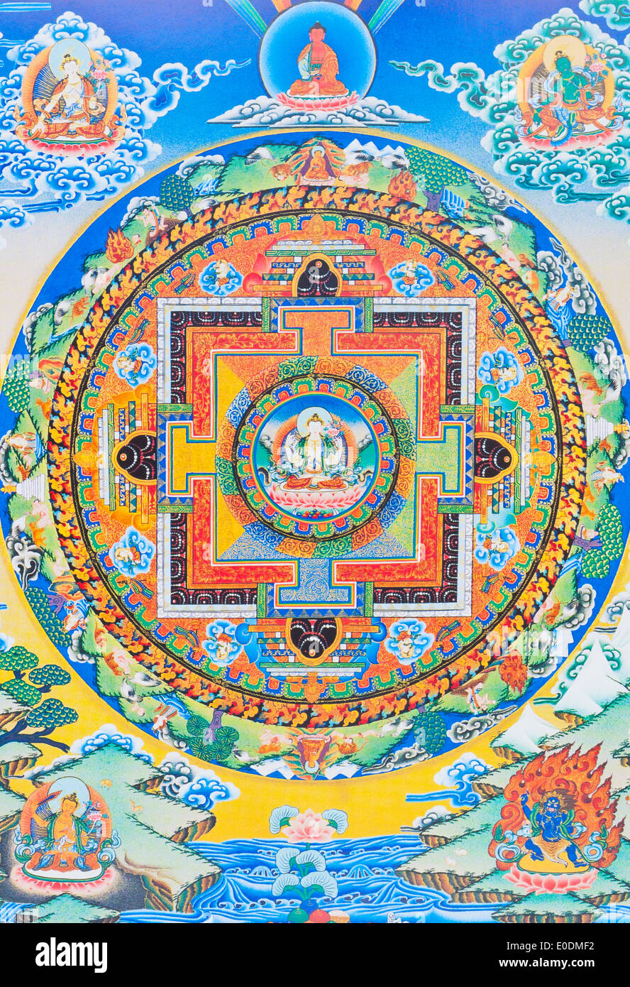 Chenresi mandala - Stock Image