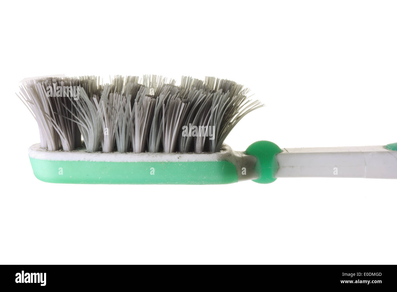 Old Worn-Out Toothbrush - Stock Image