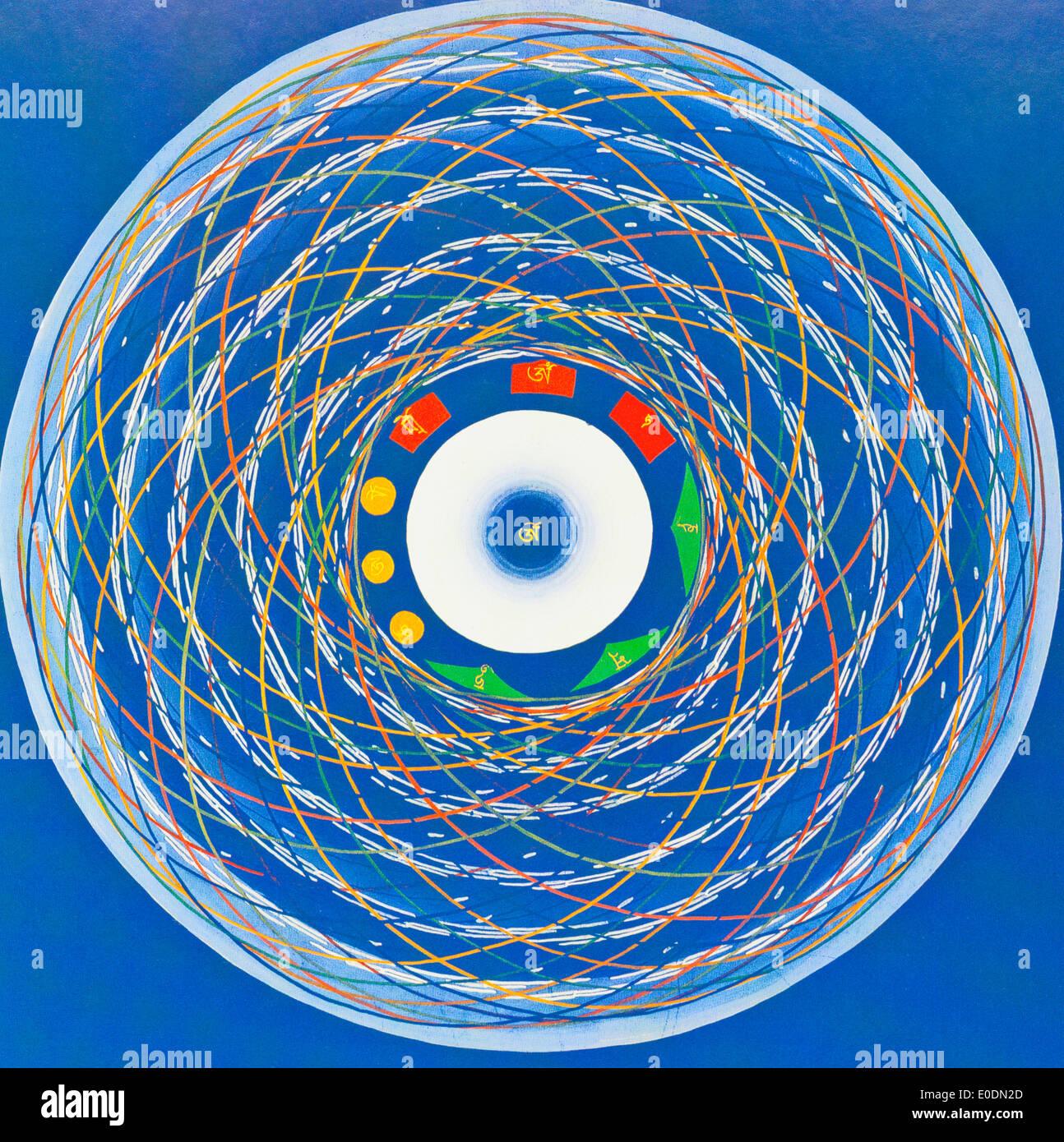 Om cosmo Mandala - Stock Image