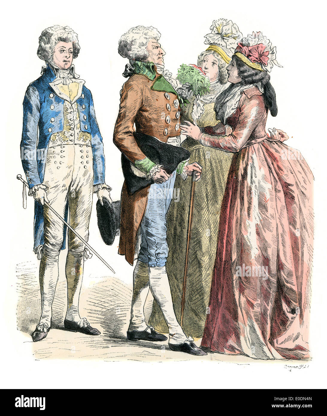 Traditional Costumes Of France Men And Women Of The Late