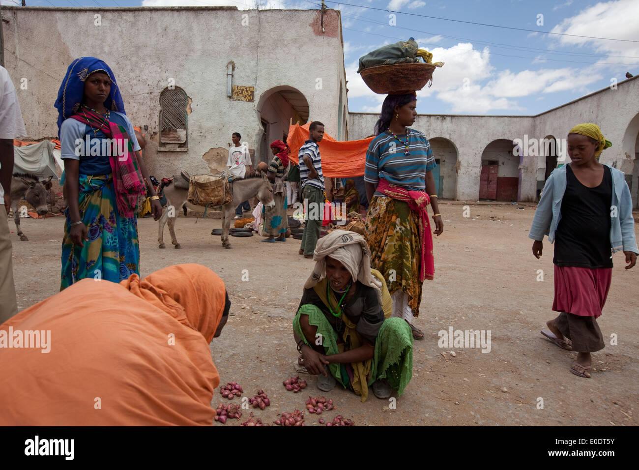 Harar, Ethiopia market - Stock Image
