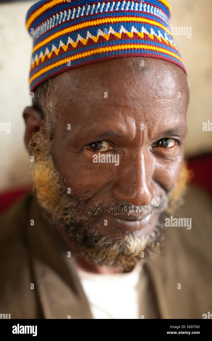Portrait of a man in Harar, Ethiopia. - Stock Image