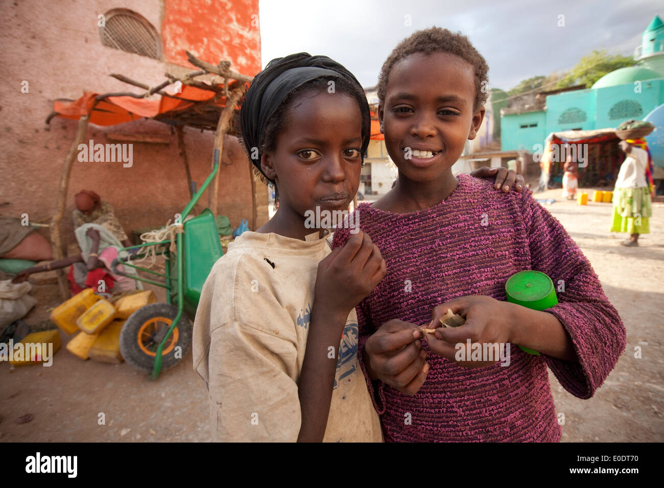 Children in Harar, Ethiopia. - Stock Image