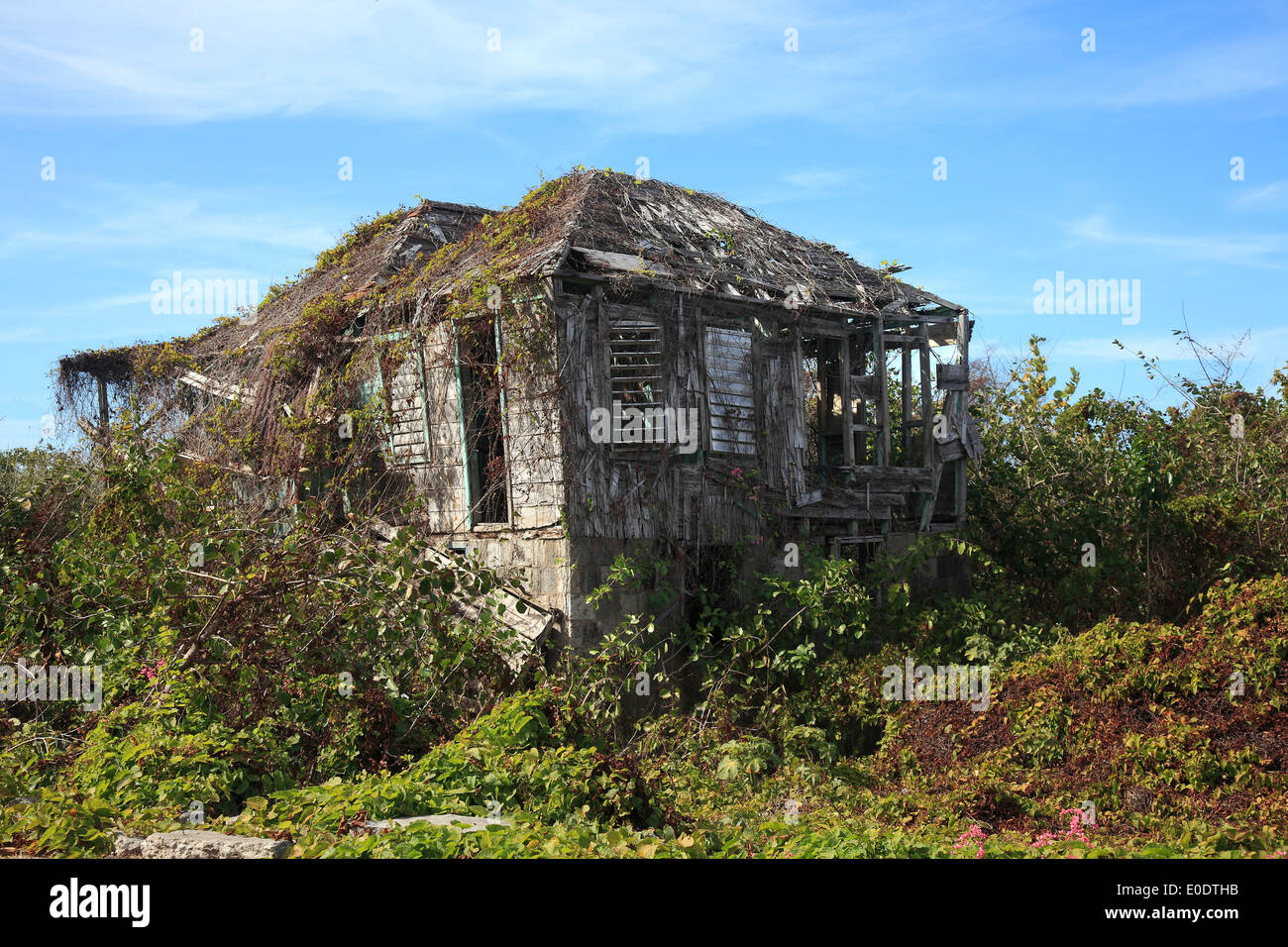 Derelict House in the Caribbean - Stock Image
