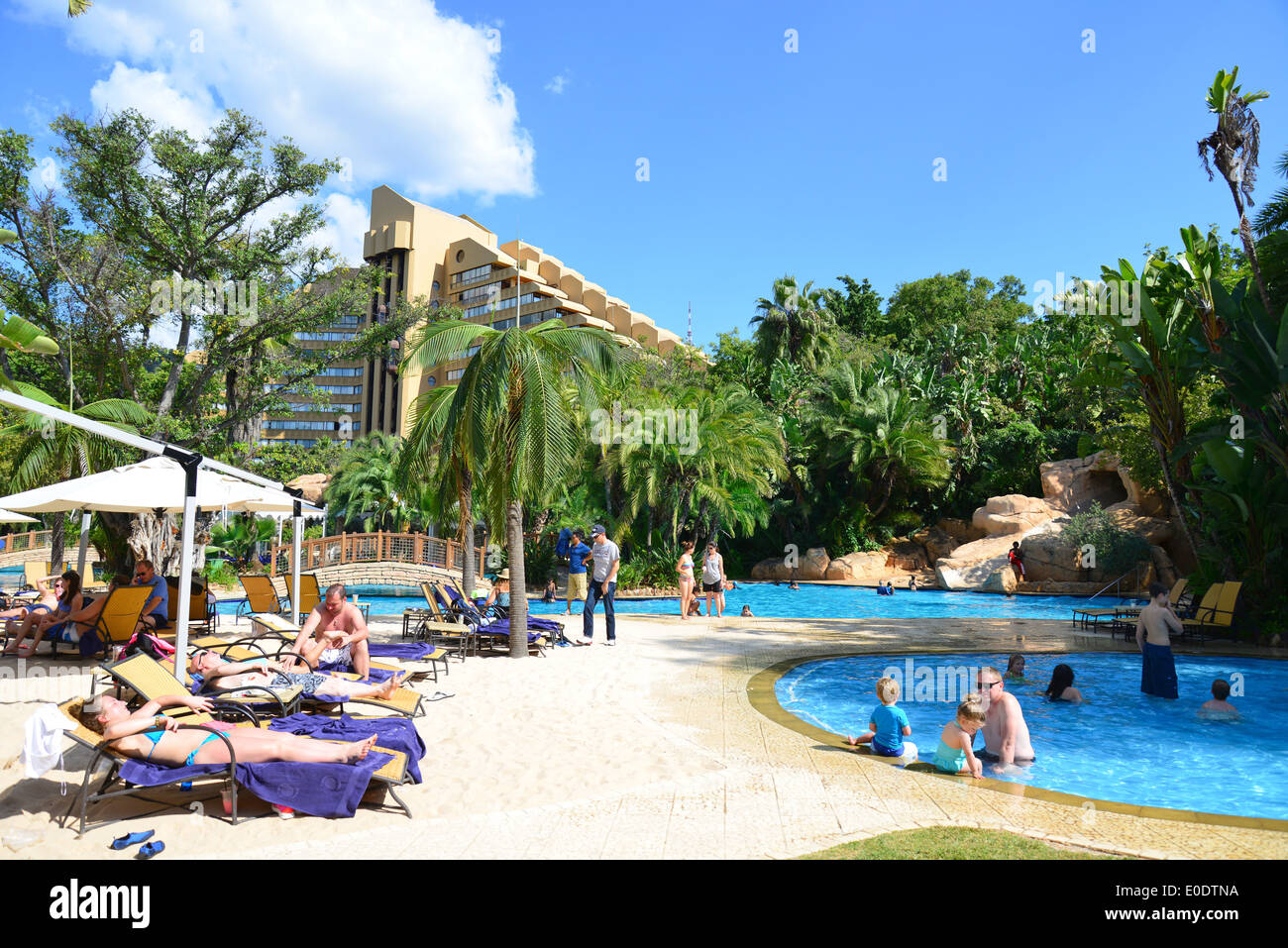 Swimming Pool At Cascades Hotel, Sun City Holiday Resort, Pilanesberg,  North West Province, Republic Of South Africa