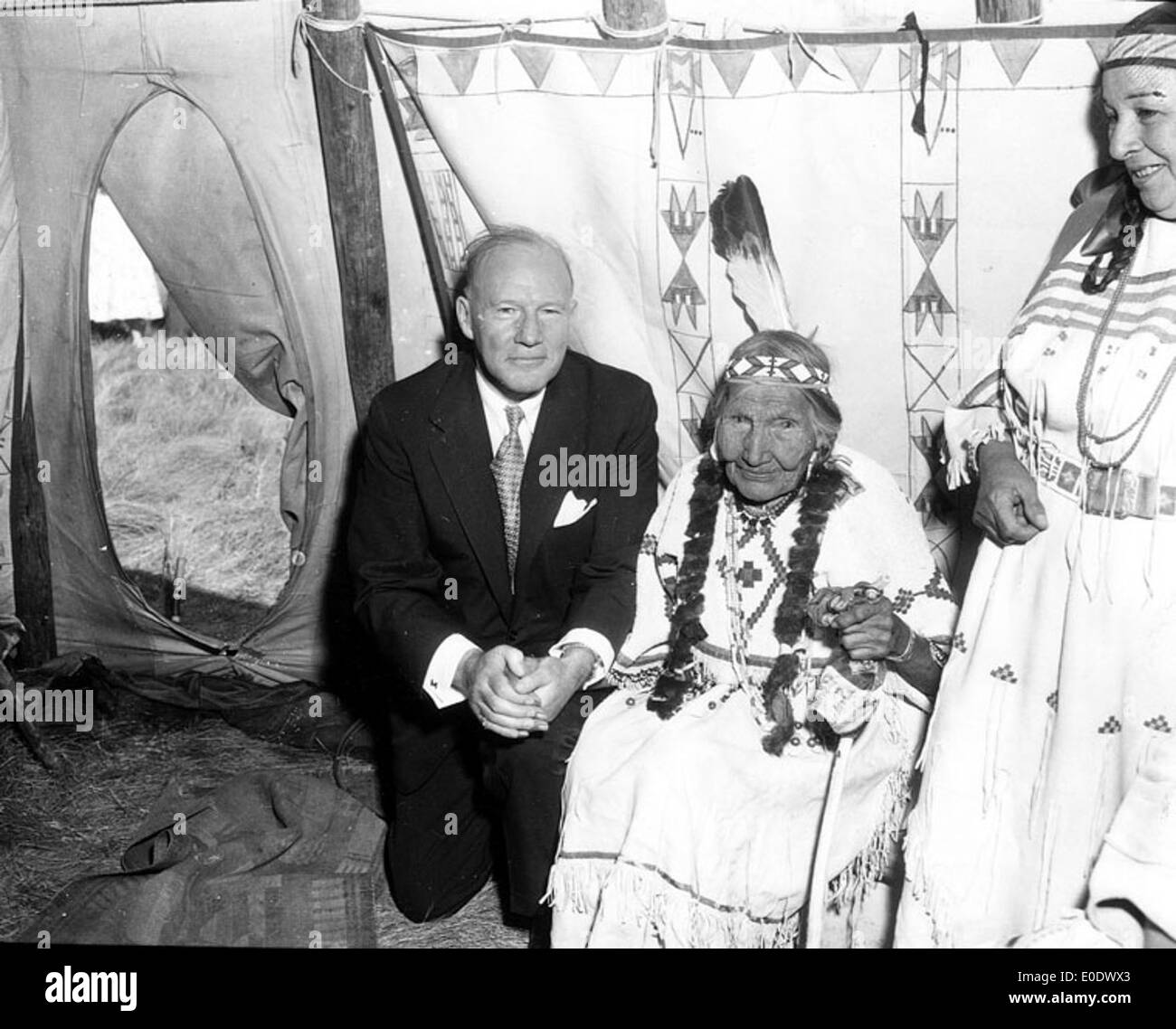Muir Investiture as Indian Chief - Stock Image