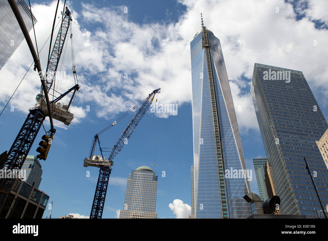 Reconstructed World Trade center building, New York - Stock Image