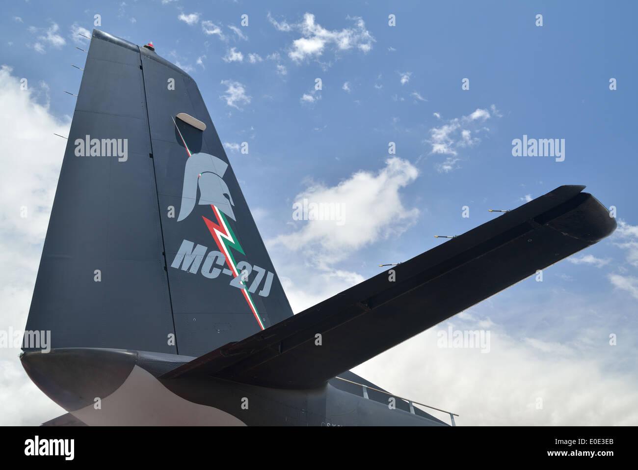 tailplane detail of Spartan MC-27J - Stock Image