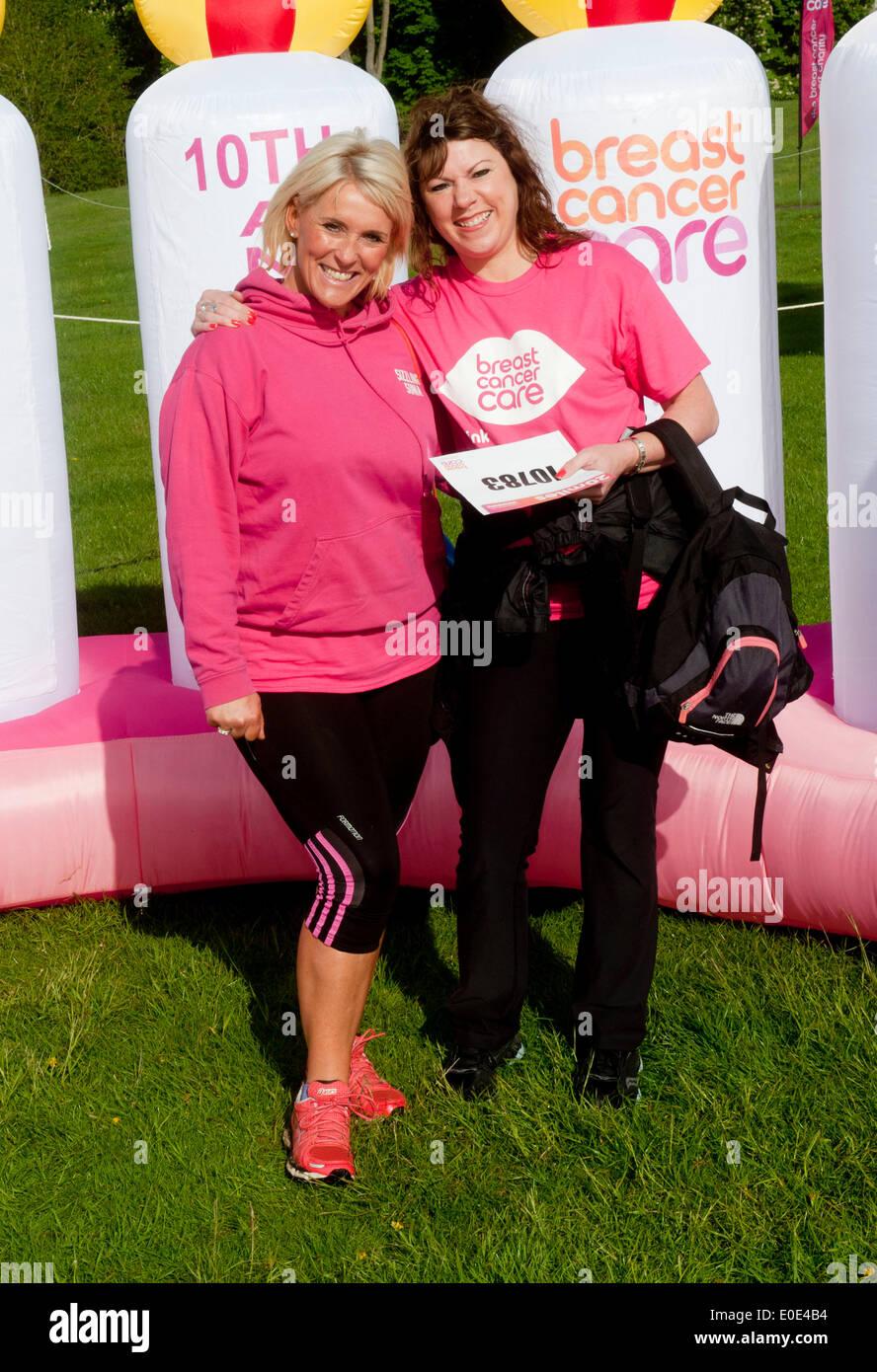 Blenheim Palace, Oxfordshire, UK. 10th May, 2014. Helen Fospero, Linda Barker took part in the  Pink Ribbon walk Stock Photo