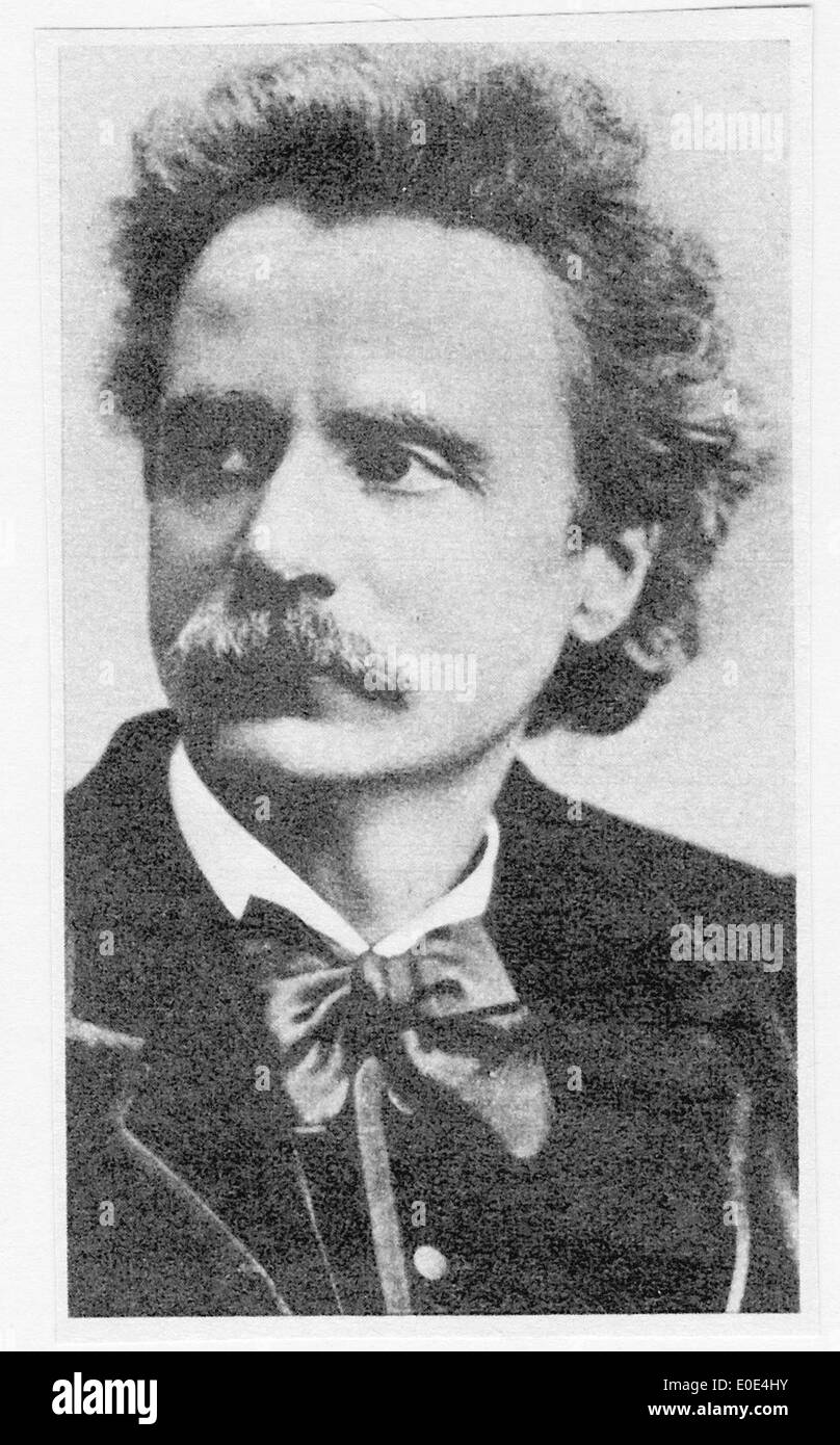 Edvard Grieg portarit - Stock Image