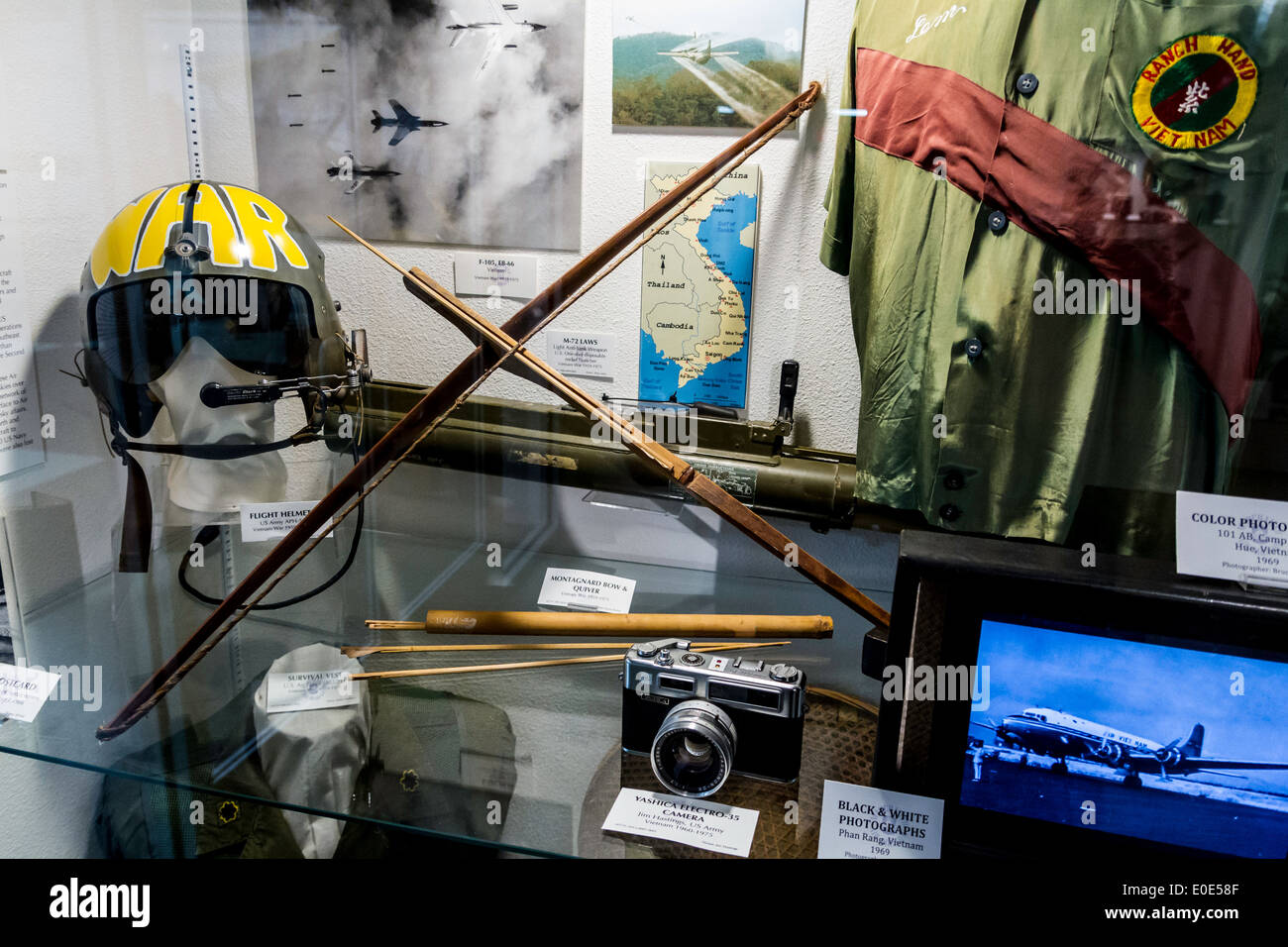 Vietnam war Artifacts at the March Field Air Museum in Riverside California Stock Photo