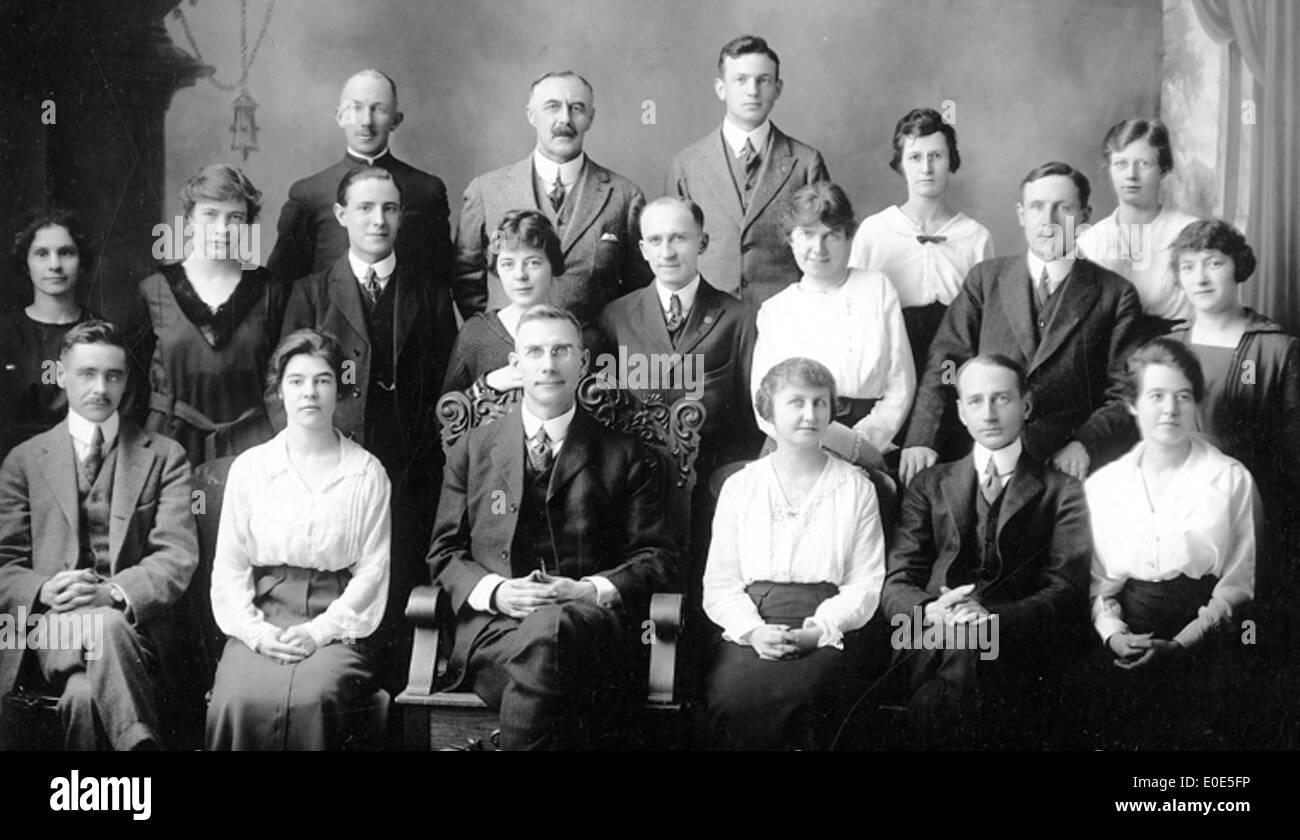 48. Unidentified Lethbridge Bank staff. Do you know anybody? - Stock Image