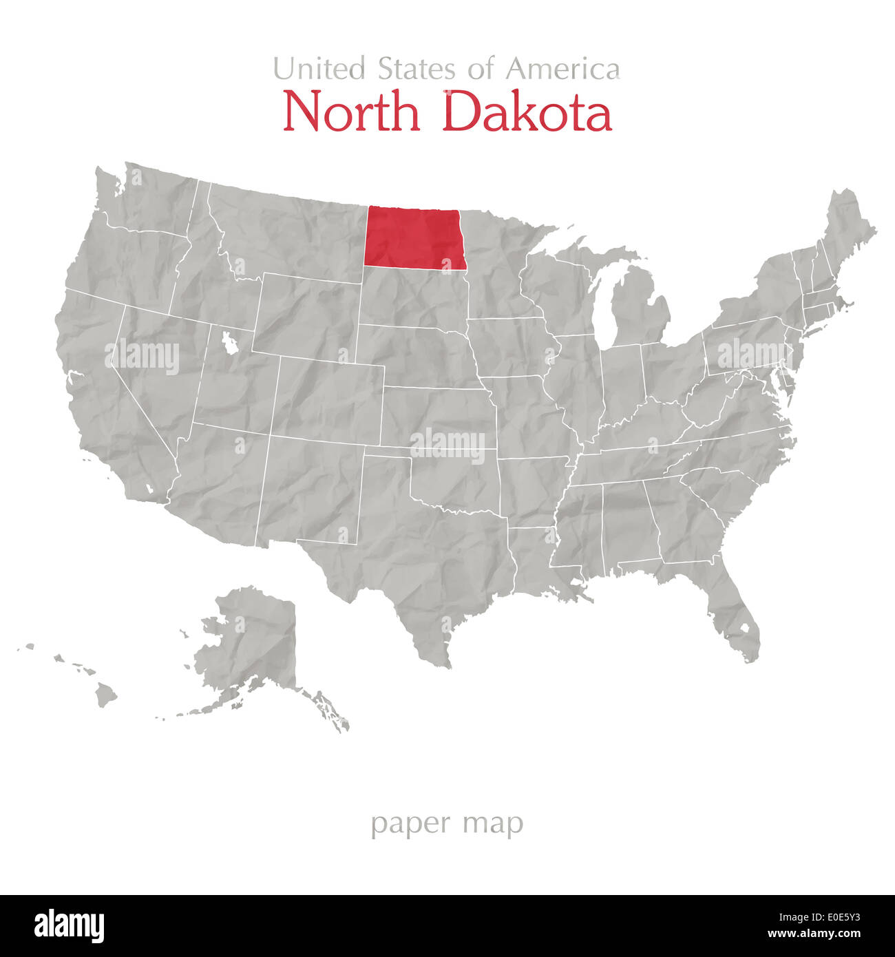 north dakota in usa map United States Of America Map And North Dakota Territory Isolated north dakota in usa map