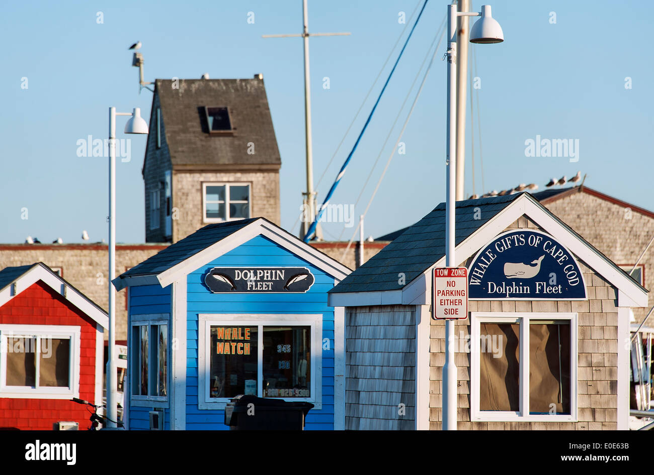 Excursion ticket booths, Provincetown, Cape Cod, Massachusetts, USA - Stock Image