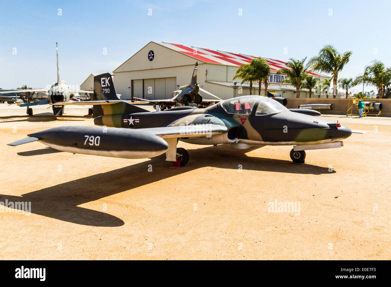 A Cessna T-37 at the March Field Air Museum in Riverside California - Stock Image