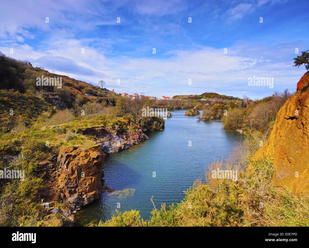 La Arboleda/Zugaztieta Park - recreational area in Valle de Trapaga near Bilbao, Biscay, Basque Country, Spain Stock Photo