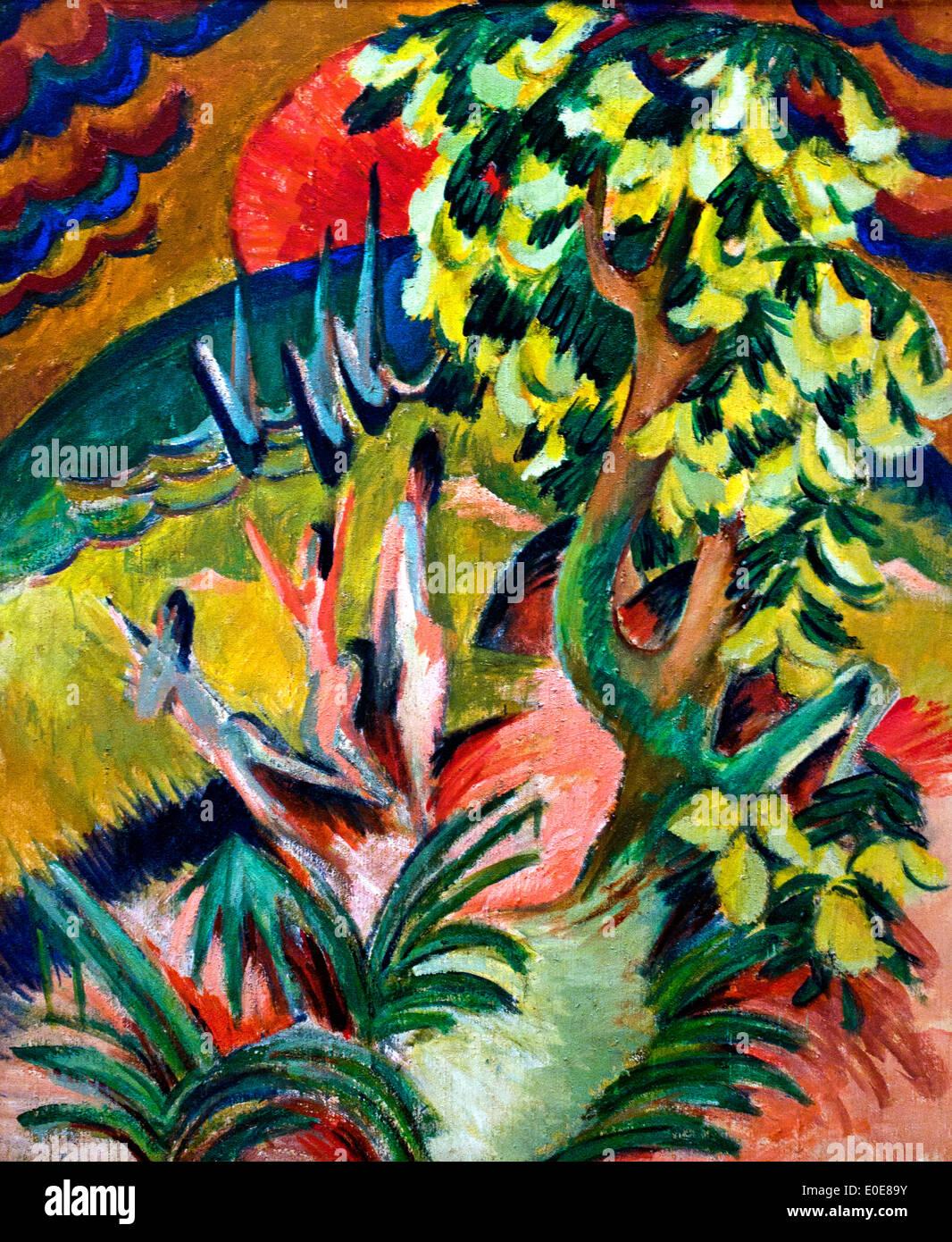 Curving Bay ca. 1914 Ernst Ludwig Kirchner 1880-1938 German Germany - Stock Image