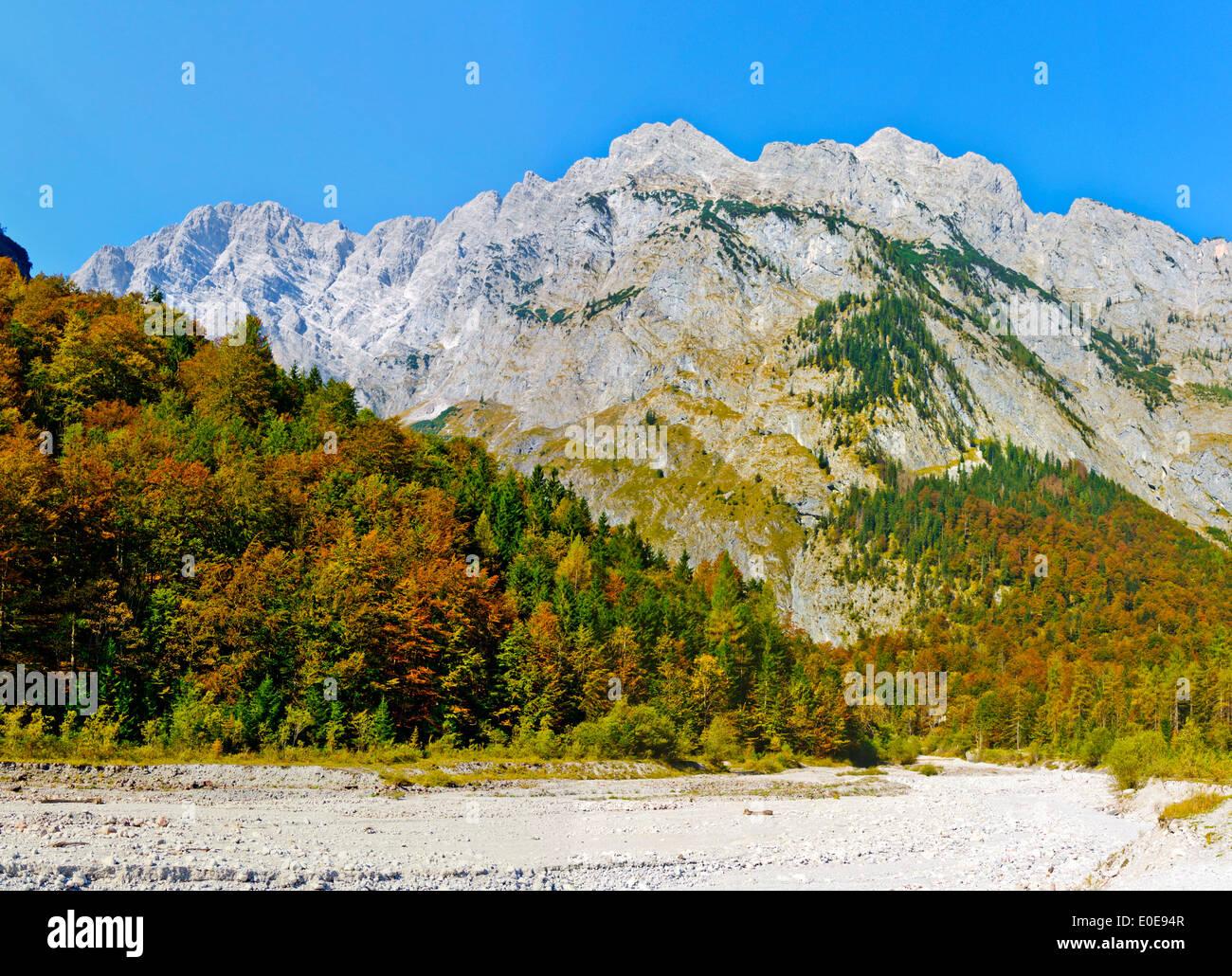 Watzmann Koenigssee in the Berchtesgaden region South Germany nice weather east wall travel destinati valley of Eisbach - Stock Image