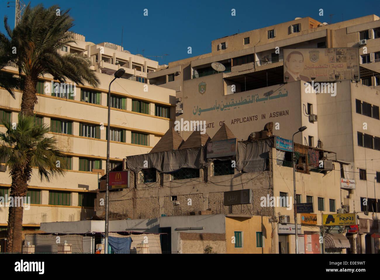 Streets of Aswan, Upper Egypt - Stock Image