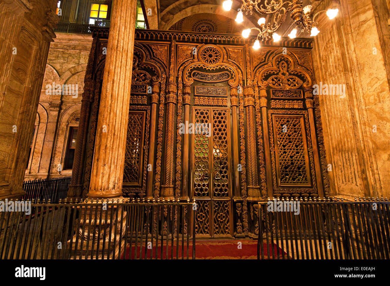 ? ?gypten, Cairo. Mohammed Ali Moschee. Indoor photograph., Ägypten, Kairo. Mohammed Ali Moschee. Innenaufnahme. Stock Photo