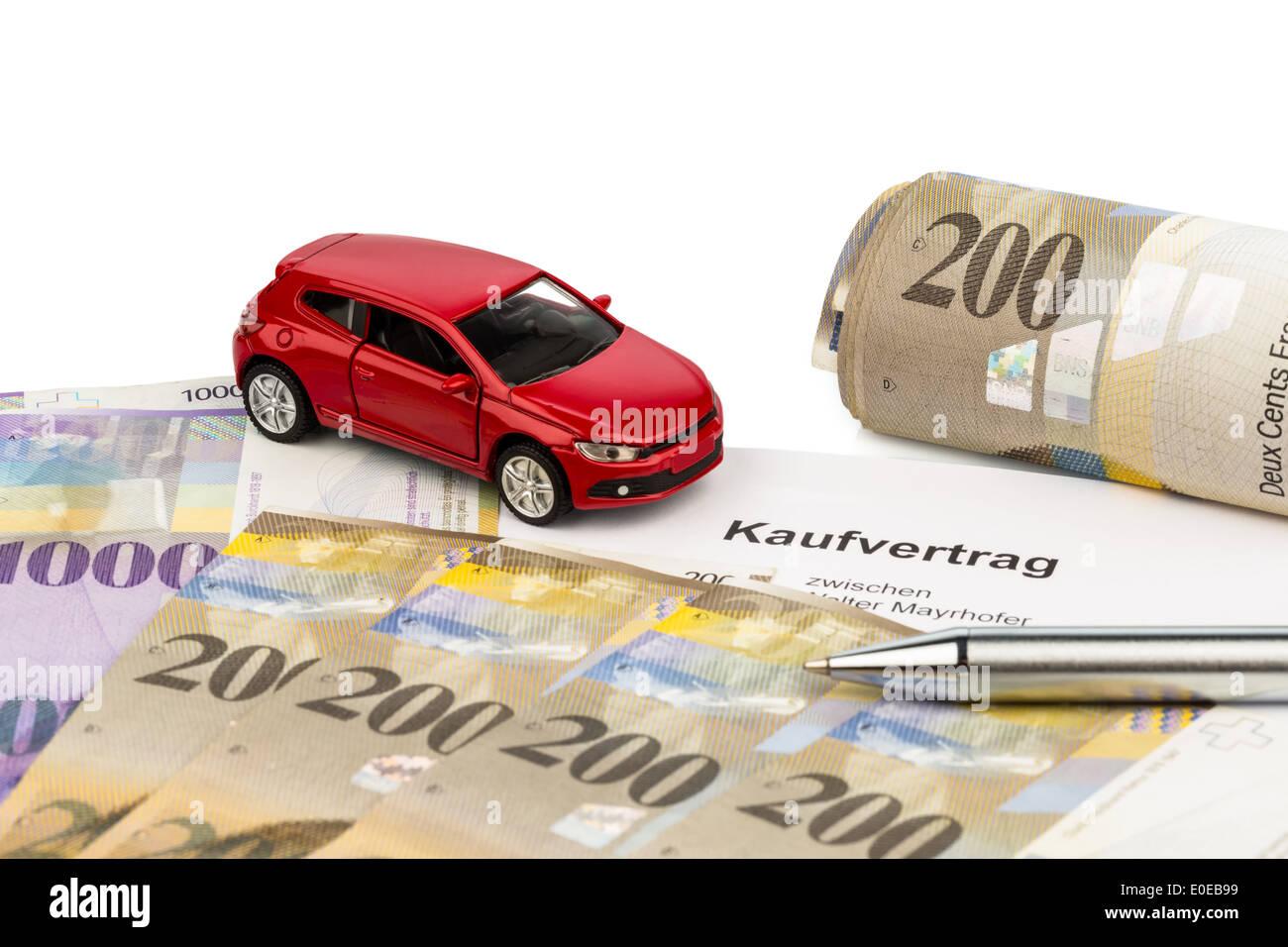 Auto Kaufvertrag Stock Photos & Auto Kaufvertrag Stock Images - Alamy