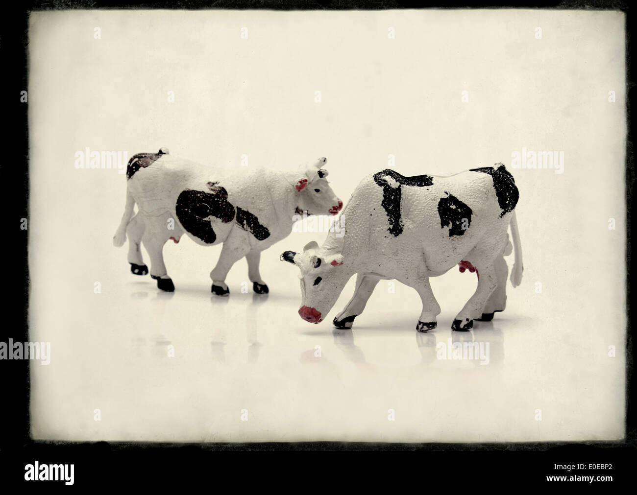 Toy farm animals - Stock Image