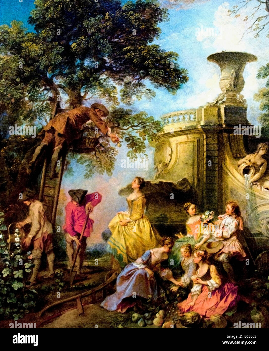 The Earth by Nicolas Lancret 1690-1743 France French - Stock Image