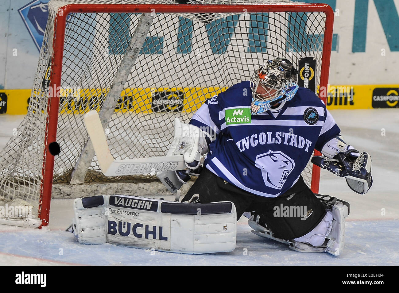 Torwart Timo Pielmeier ,Eishockey, DEL, Sport, Wintersport, Hockey, for editorial use only, - Stock Image