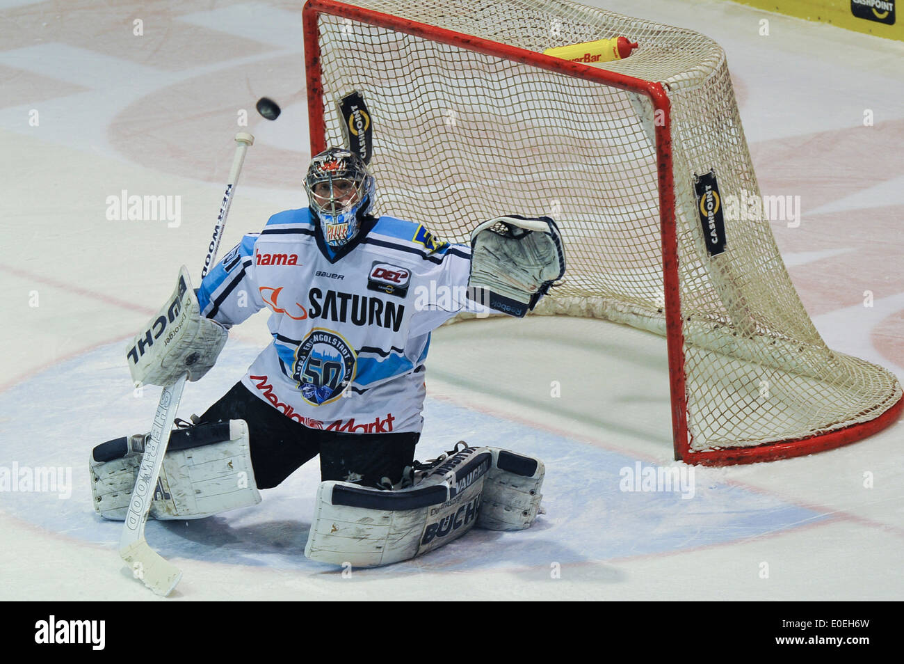 Torwart Timo Pielmeier ,Eishockey, DEL, Sport, Wintersport, Hockey, for editorial use only - Stock Image