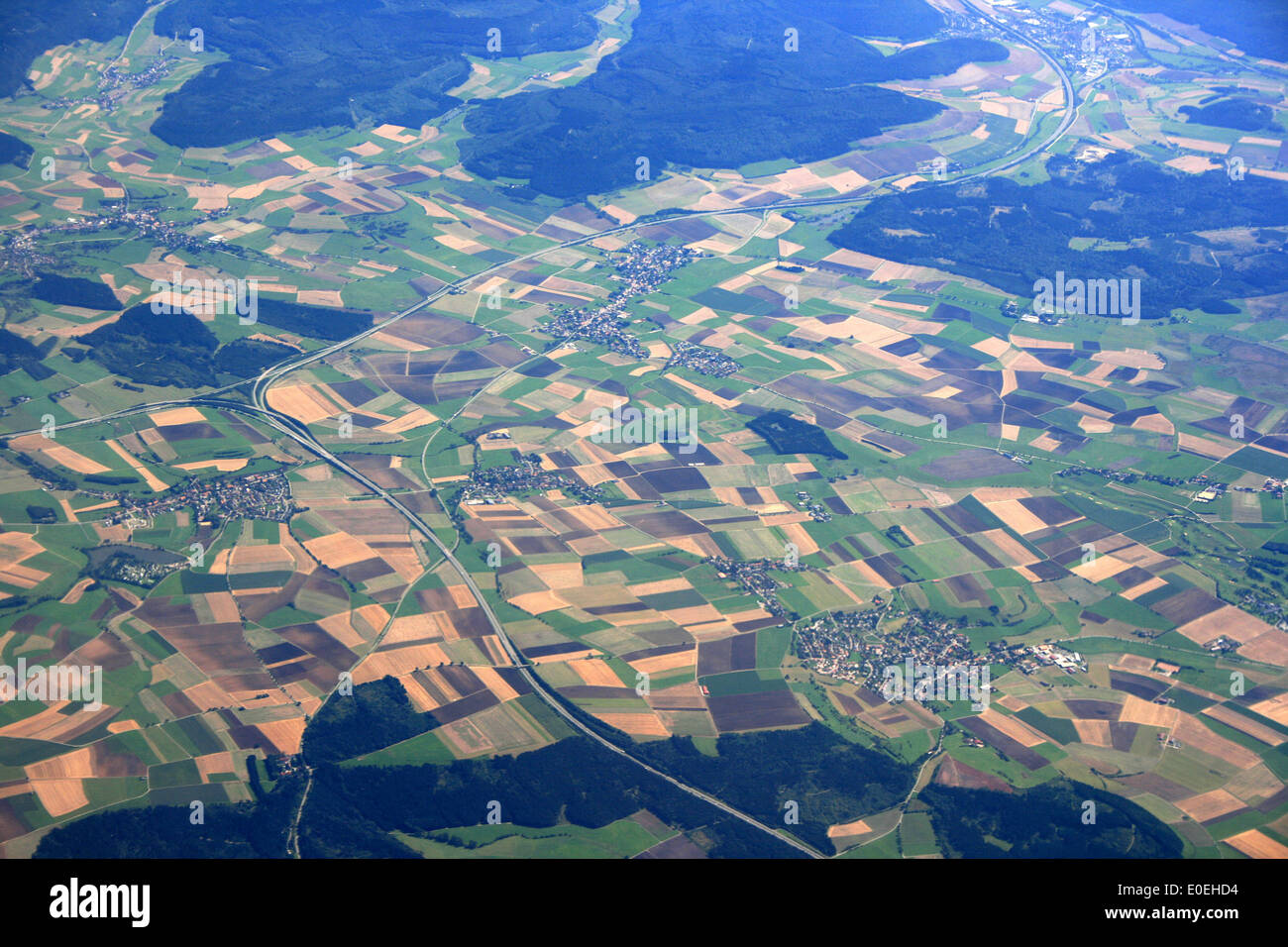 """aerial photo of """"baden württemberg""""- germany Stock Photo"""