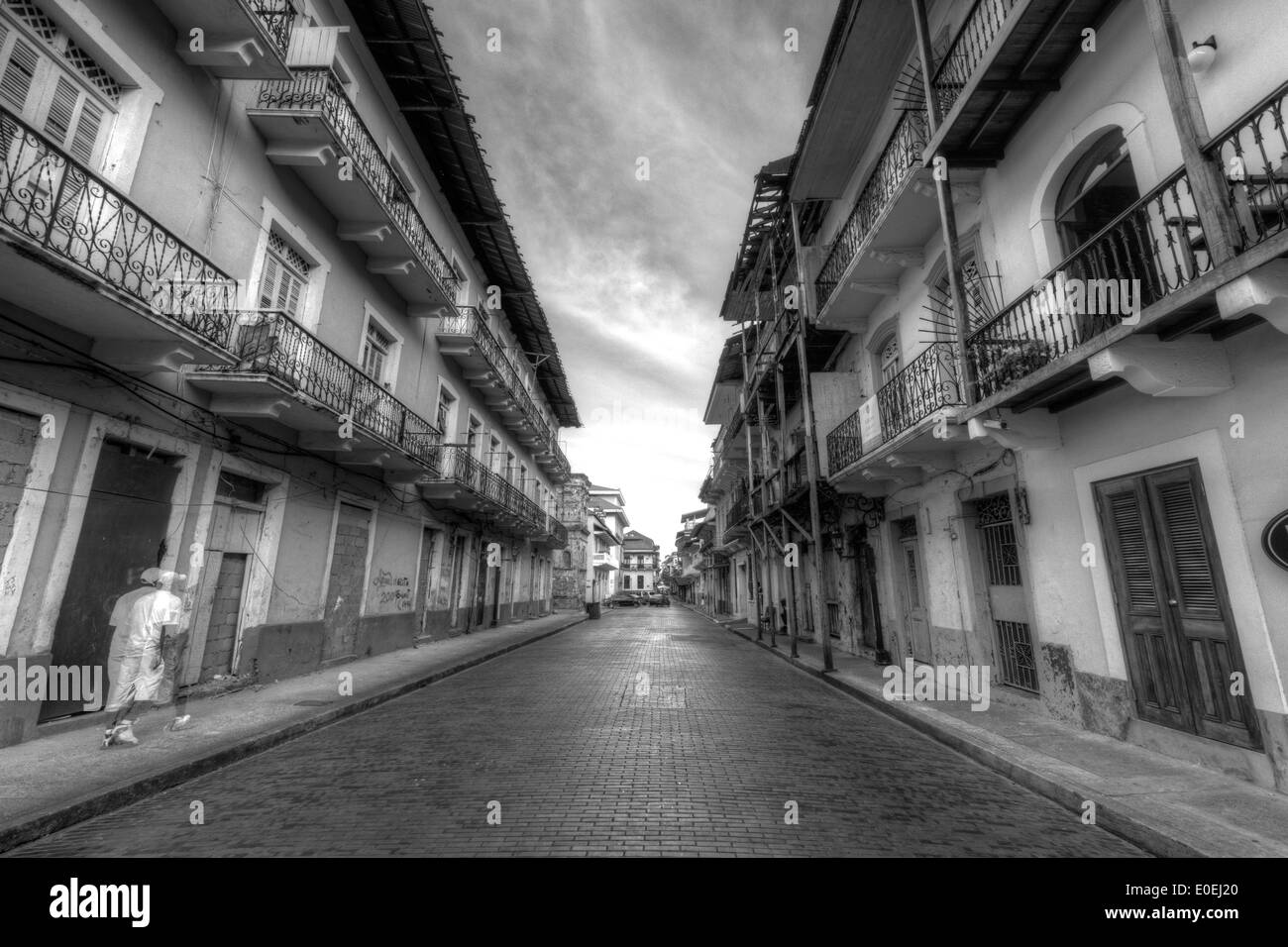 1673 1997 Avenida A Casco Antiguo Casco Viejo Panama City Panamá San Felipe Street Photography World Heritage Site historic dist - Stock Image