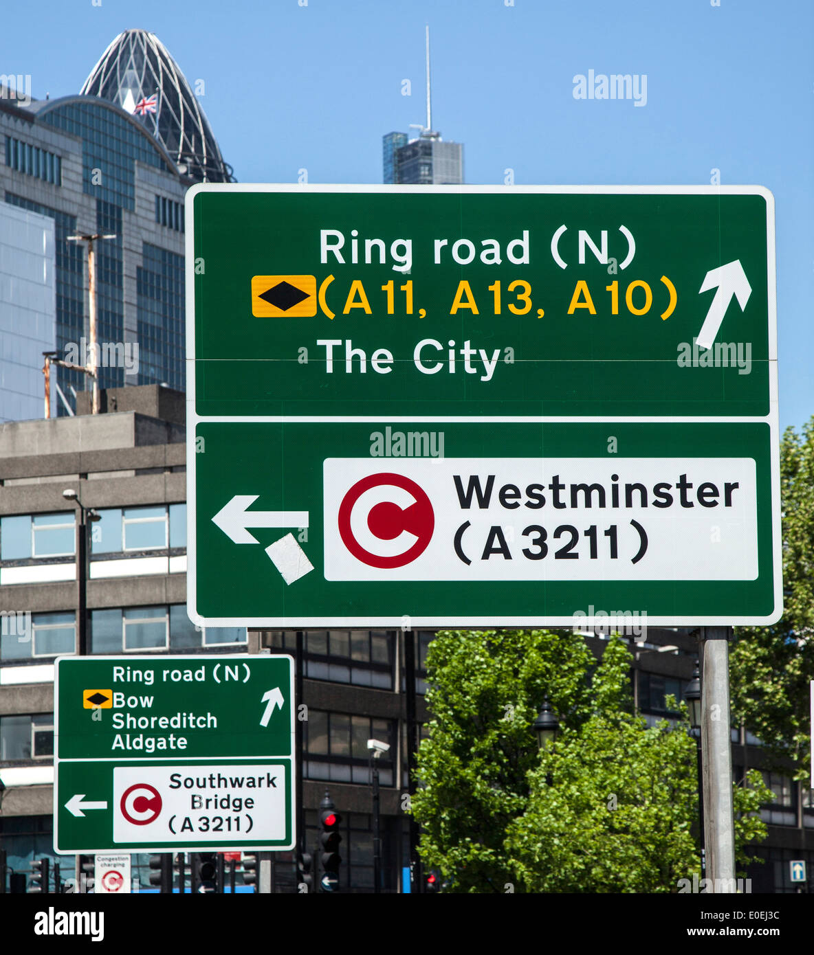 Congestion Zone Road Charging sign - Stock Image