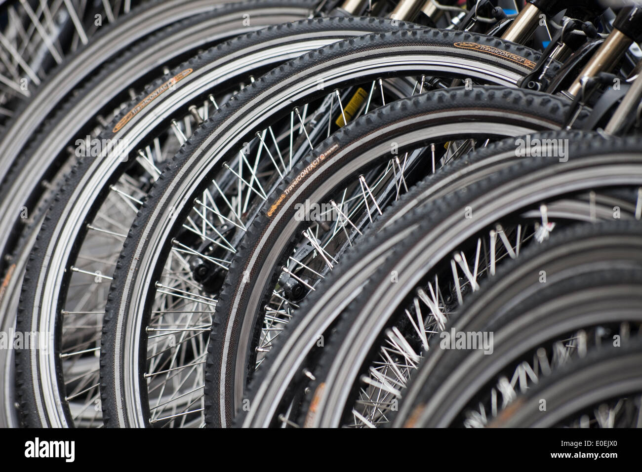 Fahrräder - Bicycles - Stock Image