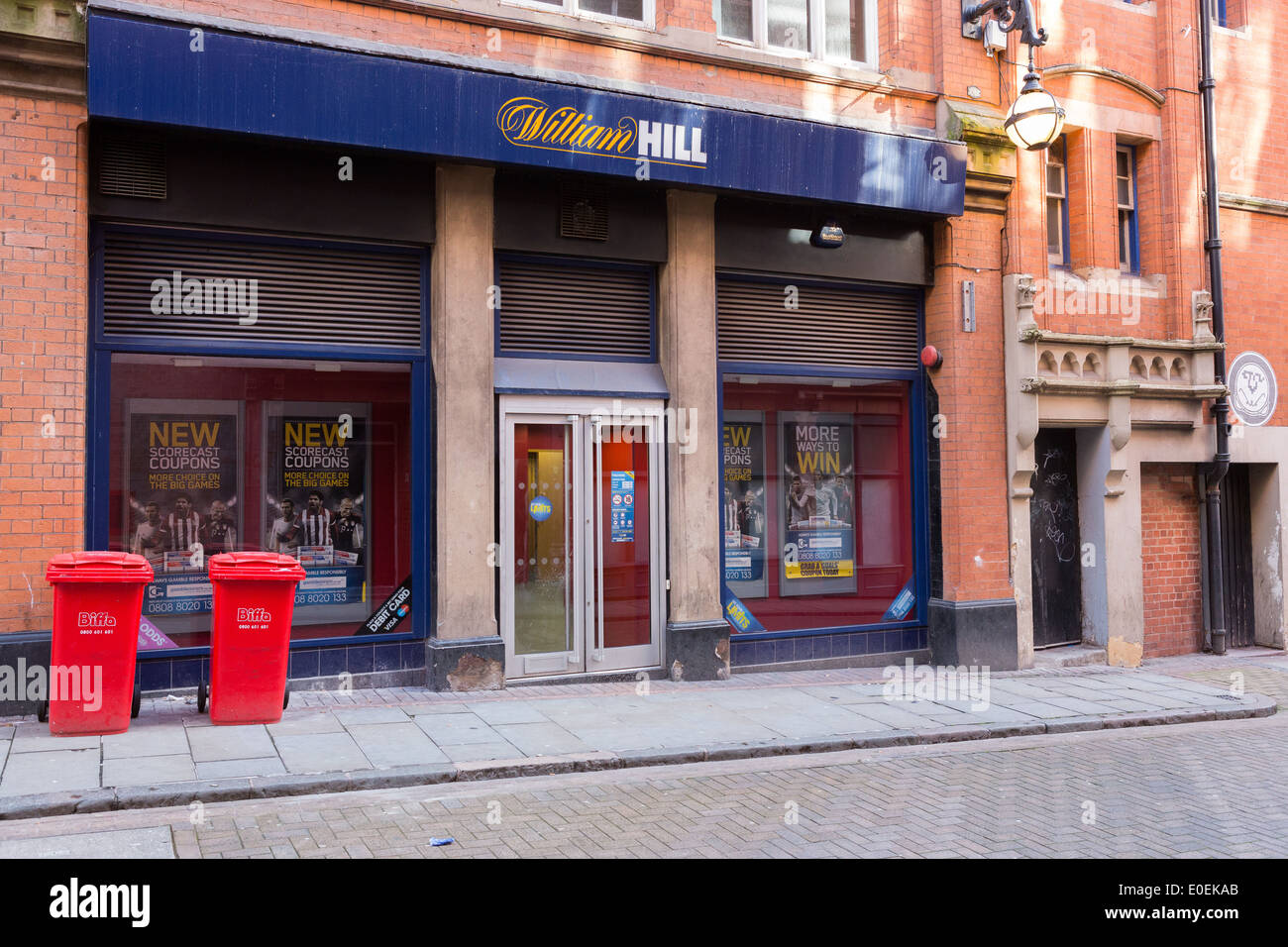 The front of a William Hill betting shop - Stock Image