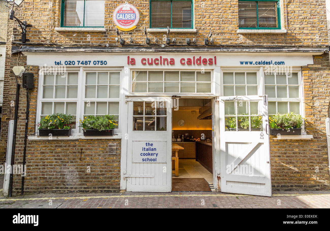 La Cucina Caldesi an Italian cookery school in Central London - Stock Image