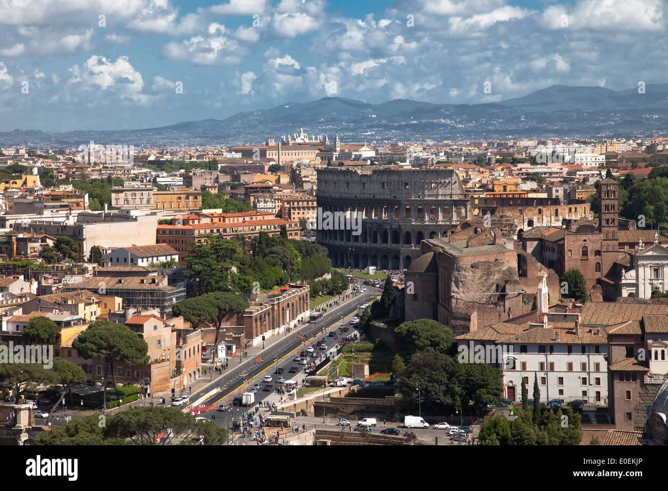 Kolosseum, Rom, Italien - Colosseum, Rome, Italy - Stock Image