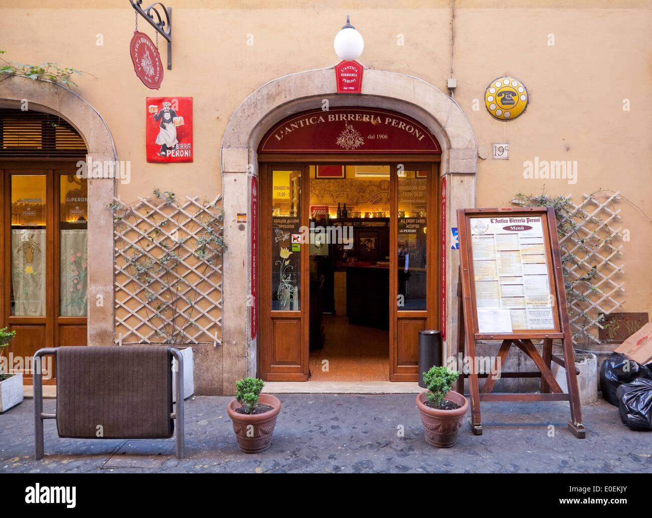 Restaurant, Rom, Italien - Restaurant, Rome, Italy Stock Photo