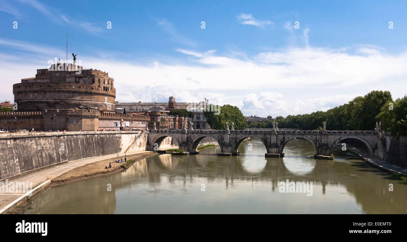 Engelsburg, Rom, Italien - Castel Sant'Angelo, Rome, Italy Stock Photo