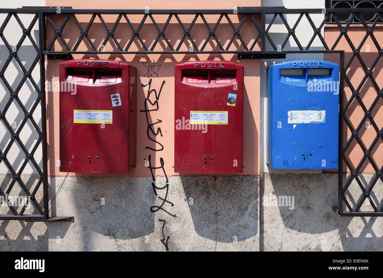 Postkästen, Rom, Italien - Mailboxes, Rome, Italy Stock Photo