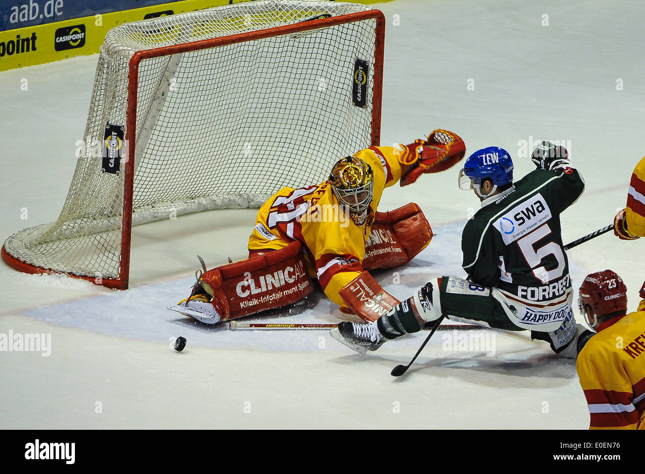 Torwart Bobby Goepfert ,Eishockey, DEL, Sport, Wintersport, Hockey for editorial use only, - Stock Image