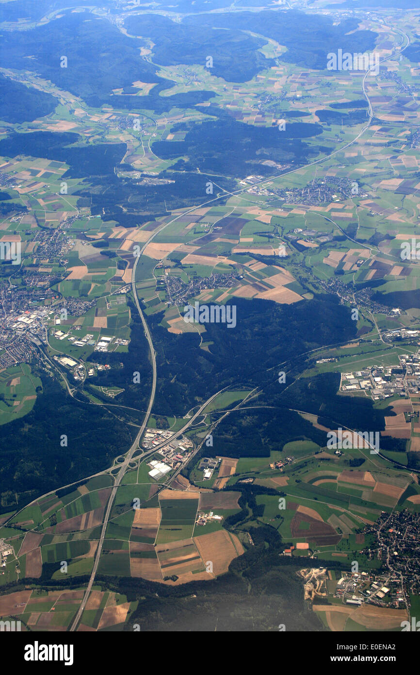 "aerial photo of ""baden württemberg""- germany Stock Photo"