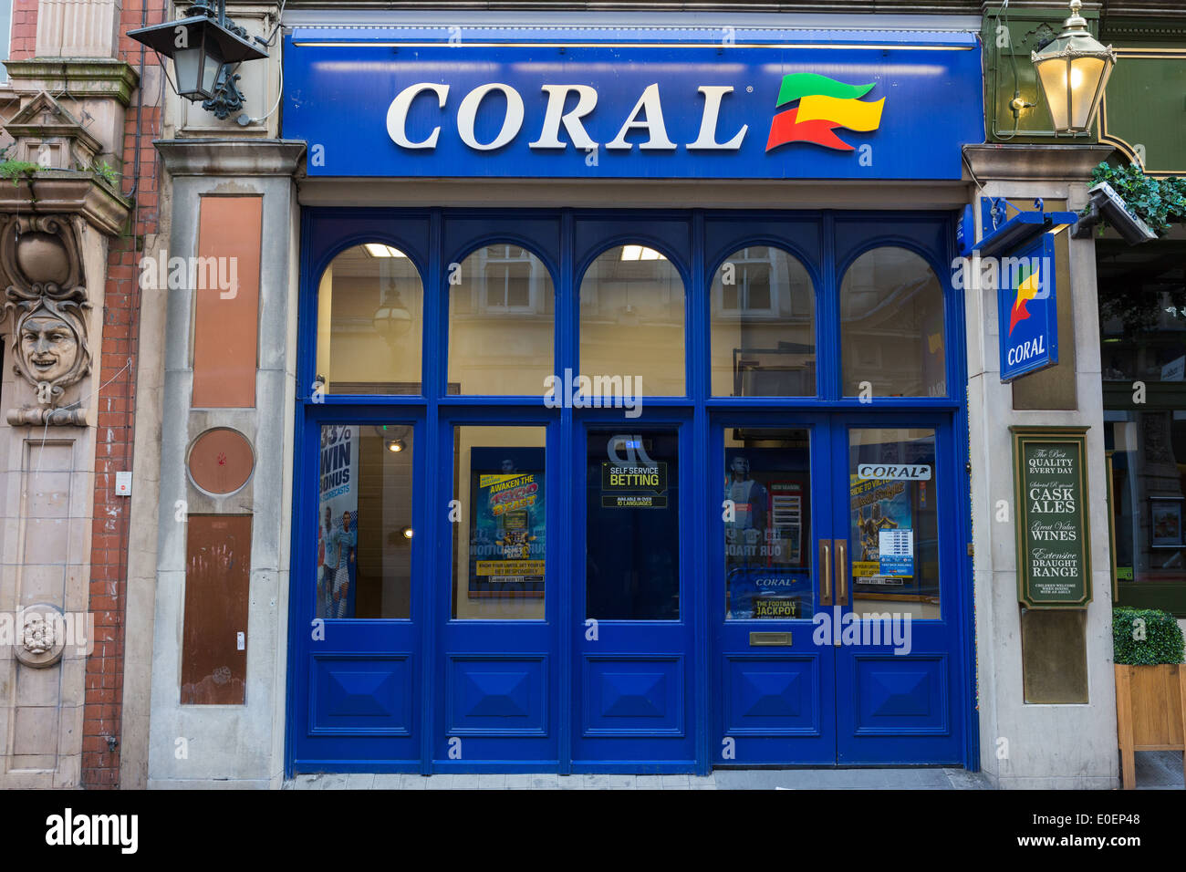 Shop front of Coral betting shop (bookmakers) - Stock Image