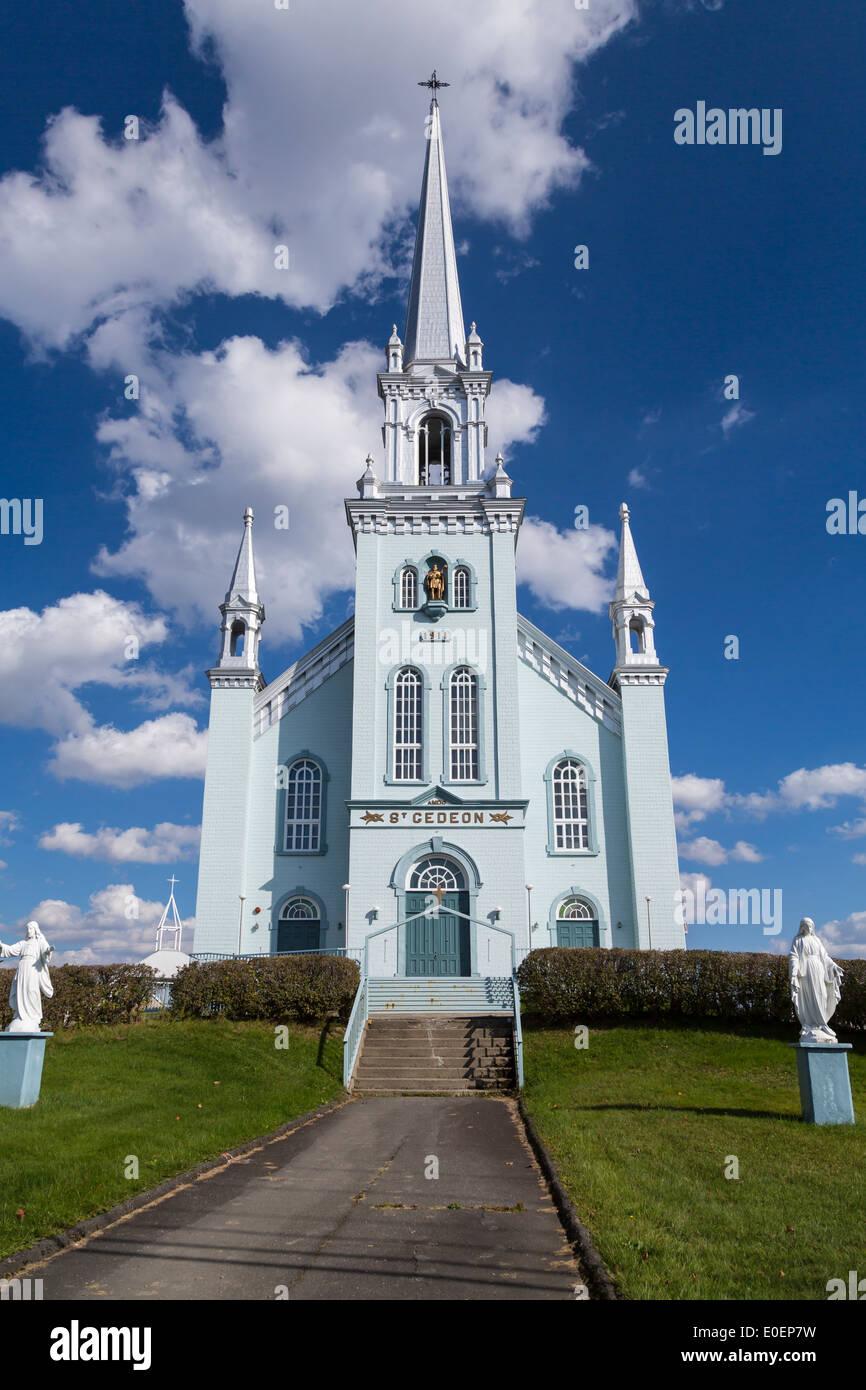 The St. Gideon church in de-Beauce, Quebec, Canada. - Stock Image