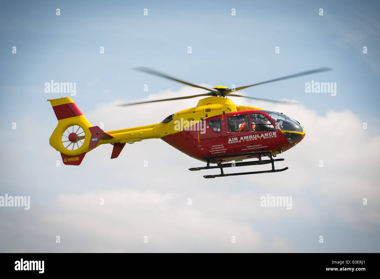 Thames Valley and Chilterns Air Ambulance Trust. Eurocopter EC135. Seen at Abingdon Air Show UK, May 2014. - Stock Image