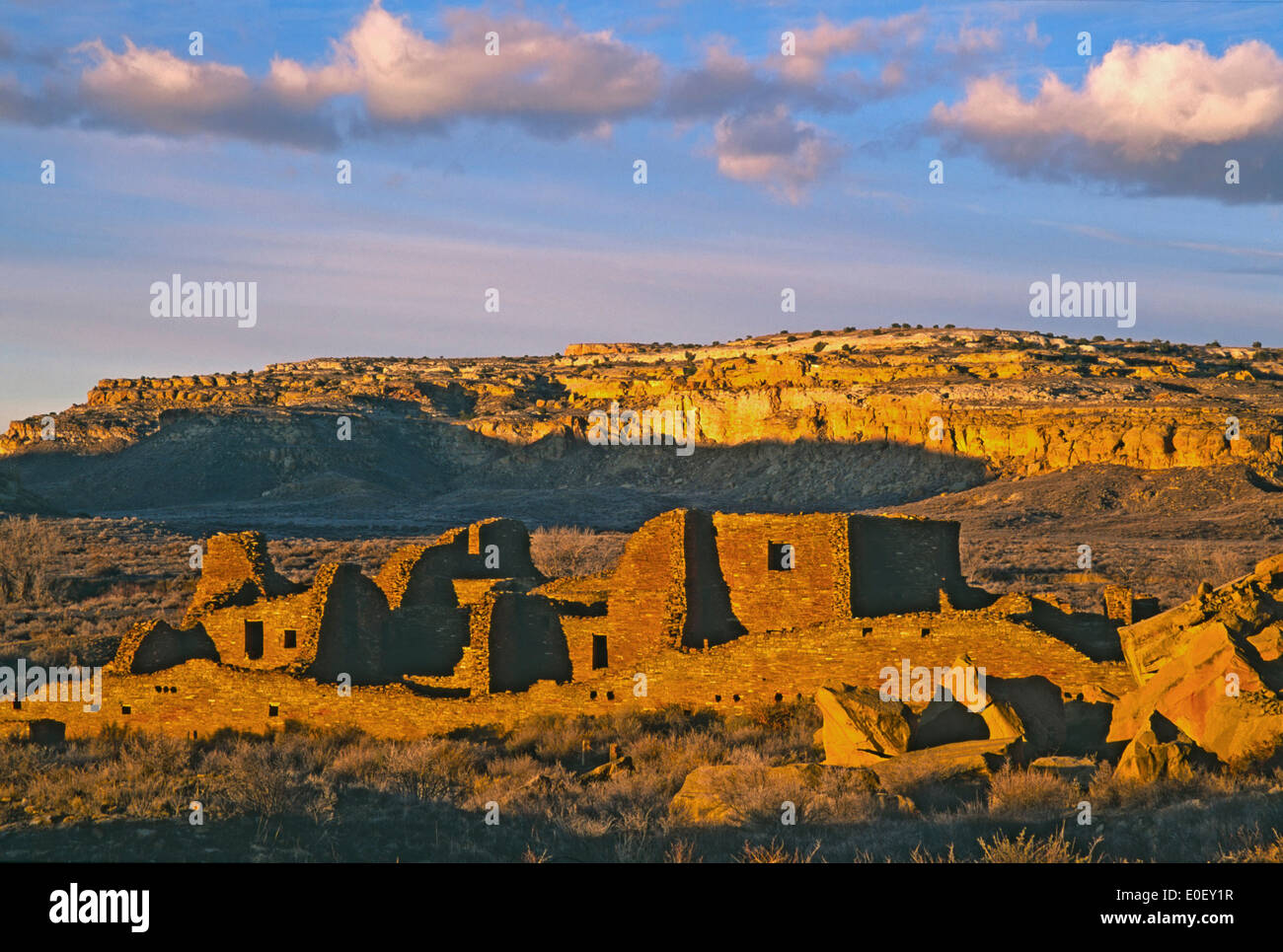 Pueblo Bonito and Chaco Canyon, Chaco Culture National Historic Park, New Mexico USA - Stock Image