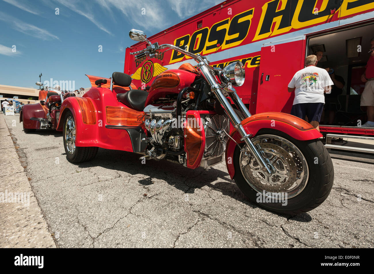 Power Trailer Stock Photos Images Alamy Boss Hoss Trike Wiring Diagram Cycles With V8 Being Shown At The Leesburg Florida Usa Bike Week